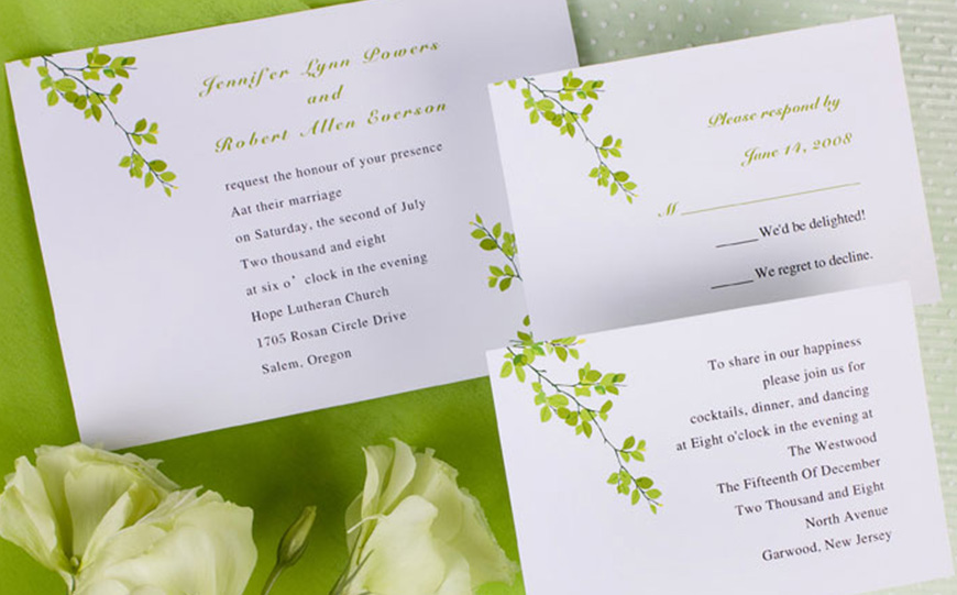 Wedding Ideas By Pantone Colour: Lime Punch - Invitations | CHWV