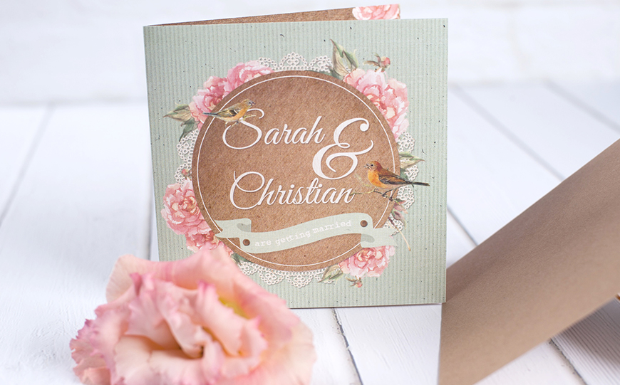 Wedding Ideas By Colour: Green Wedding Stationery - Delicate shades   CHWV