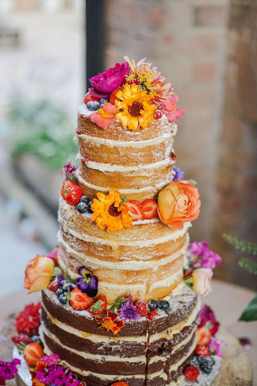 Wedding Ideas By Colour: Bright Wedding Flowers - Creative cakes | CHWV
