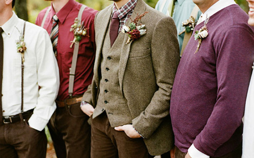 Wedding Ideas By Colour: Red Groom's Accessories - Optional extras | CHWV