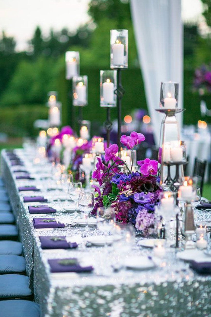 Wedding Ideas By Pantone Colour: Ultra Violet - Decorations and details | CHWV
