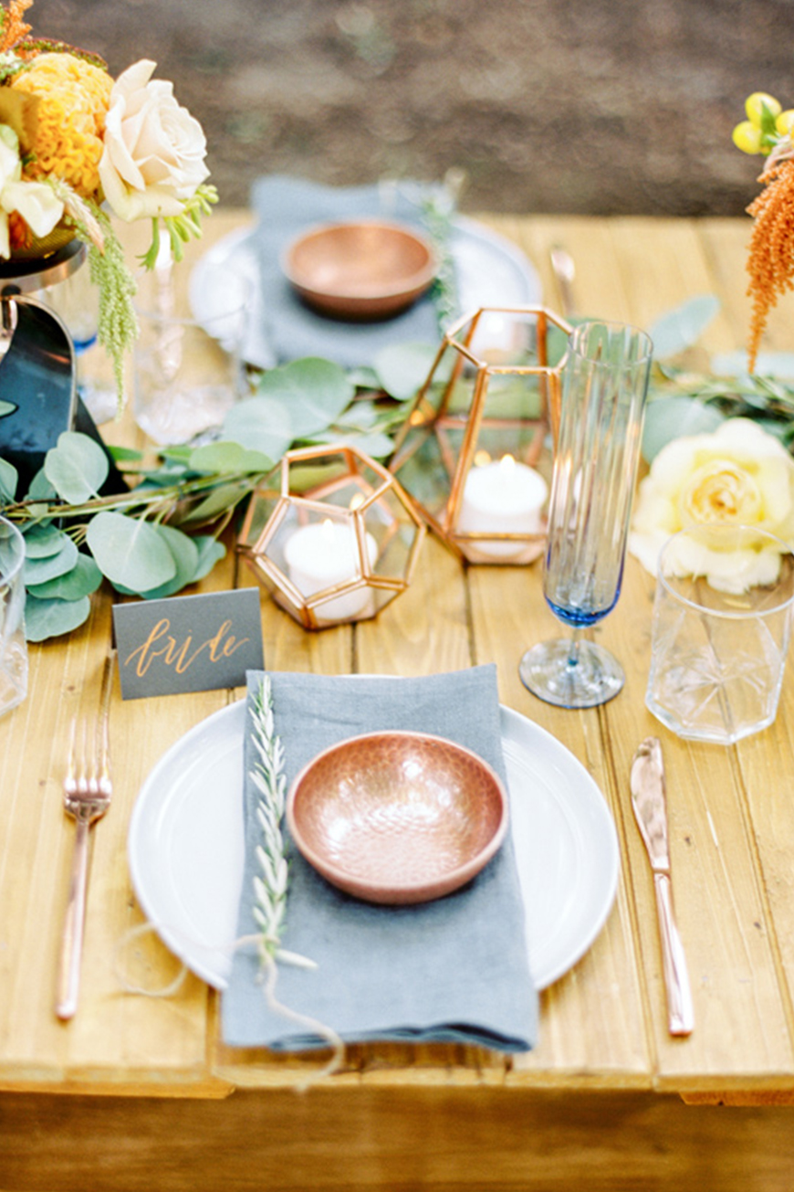 Find The Right Metallic For Your Wedding - Copper delights | CHWV