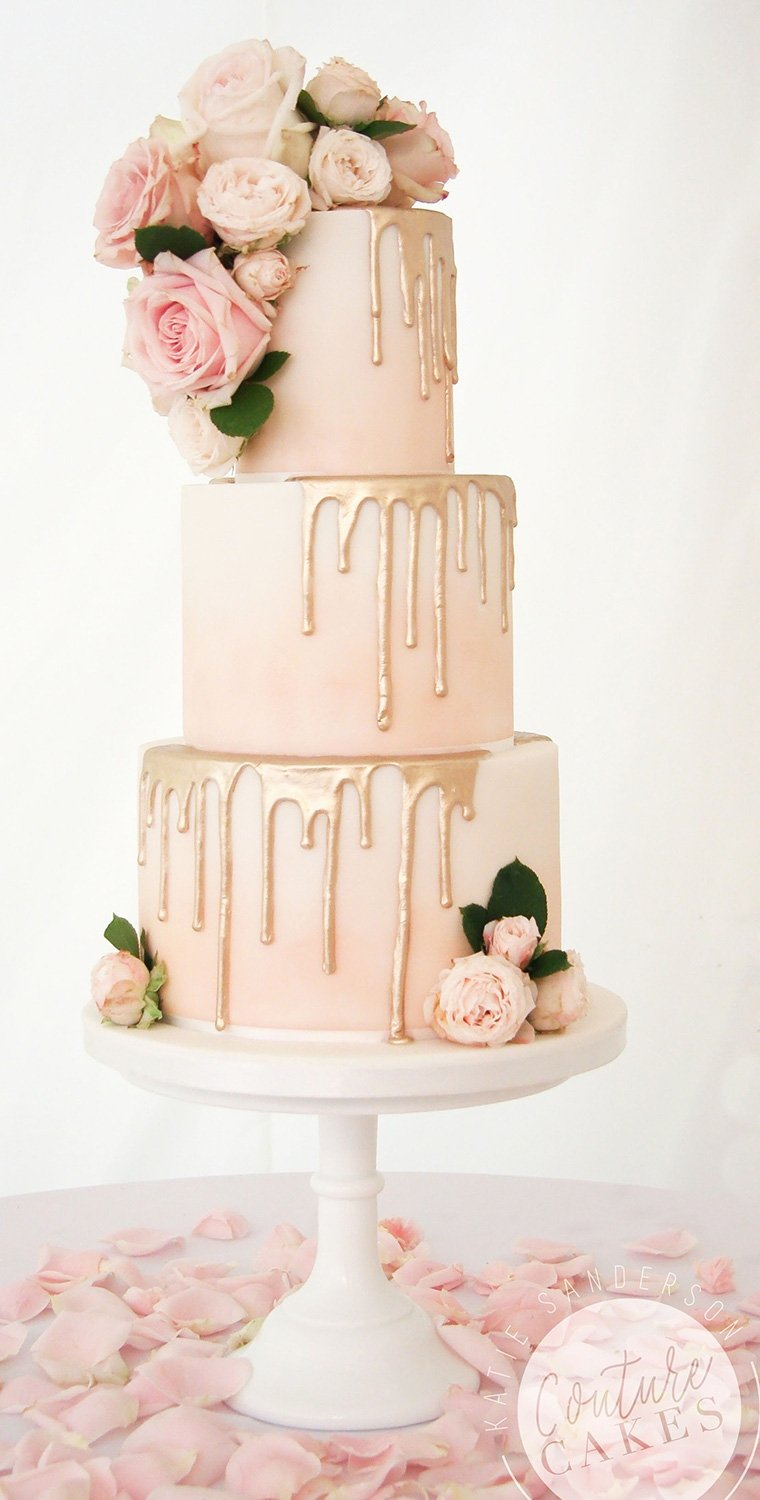 Wedding Ideas By Colour: Rose Gold Wedding Theme - Cake, Glorious Cake! | CHWV