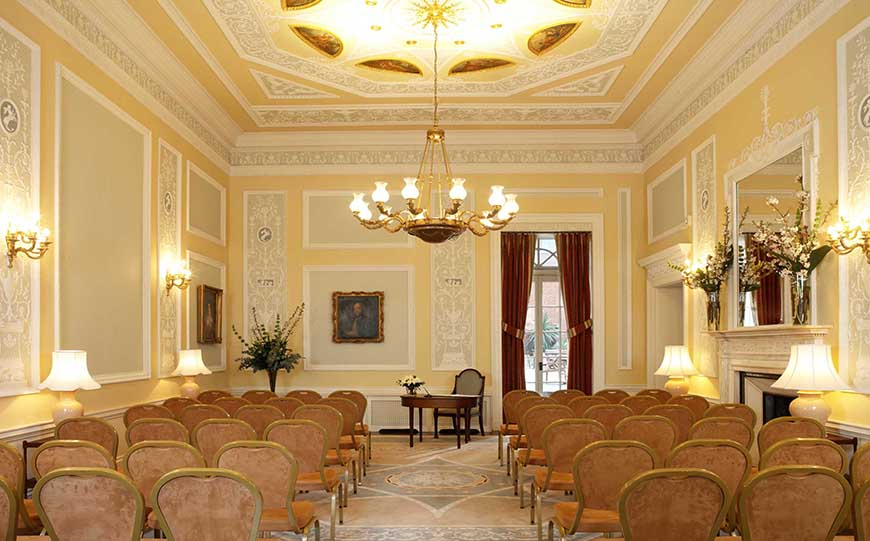 Marry In Style At The Lansdowne Club - Ceremony Room | CHWV