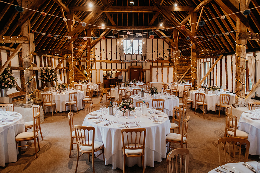 11 Romantic Country Wedding Venues You'll Fall In Love With - Clock Barn | CHWV