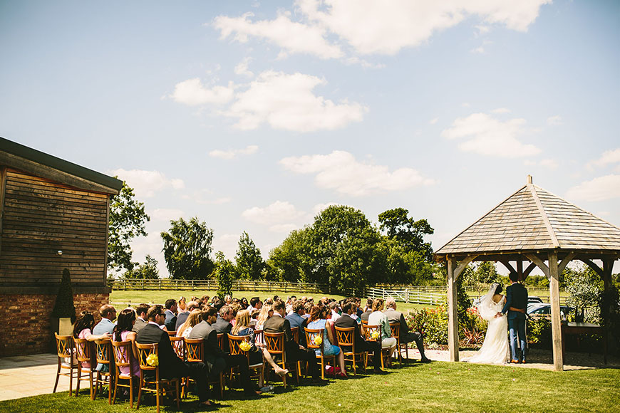 12 Outside Wedding Venues To Fall In Love With - Mythe Barn | CHWV