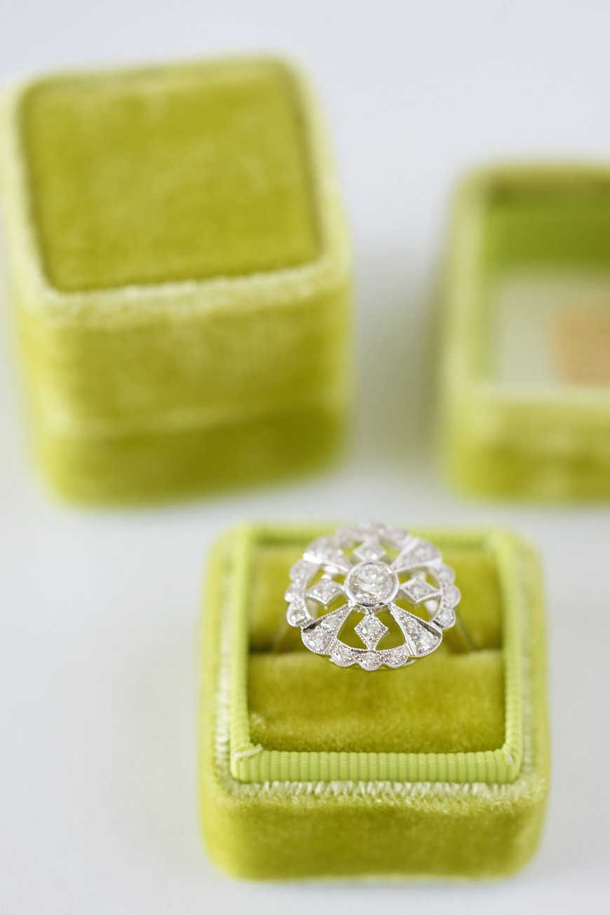 Wedding Ideas By Pantone Colour: Lime Punch - Ring box | CHWV