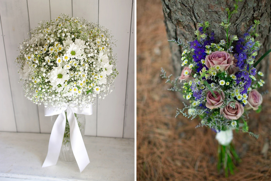 Wedding Ideas By Colour: White Wedding Flowers - Asters | CHWV