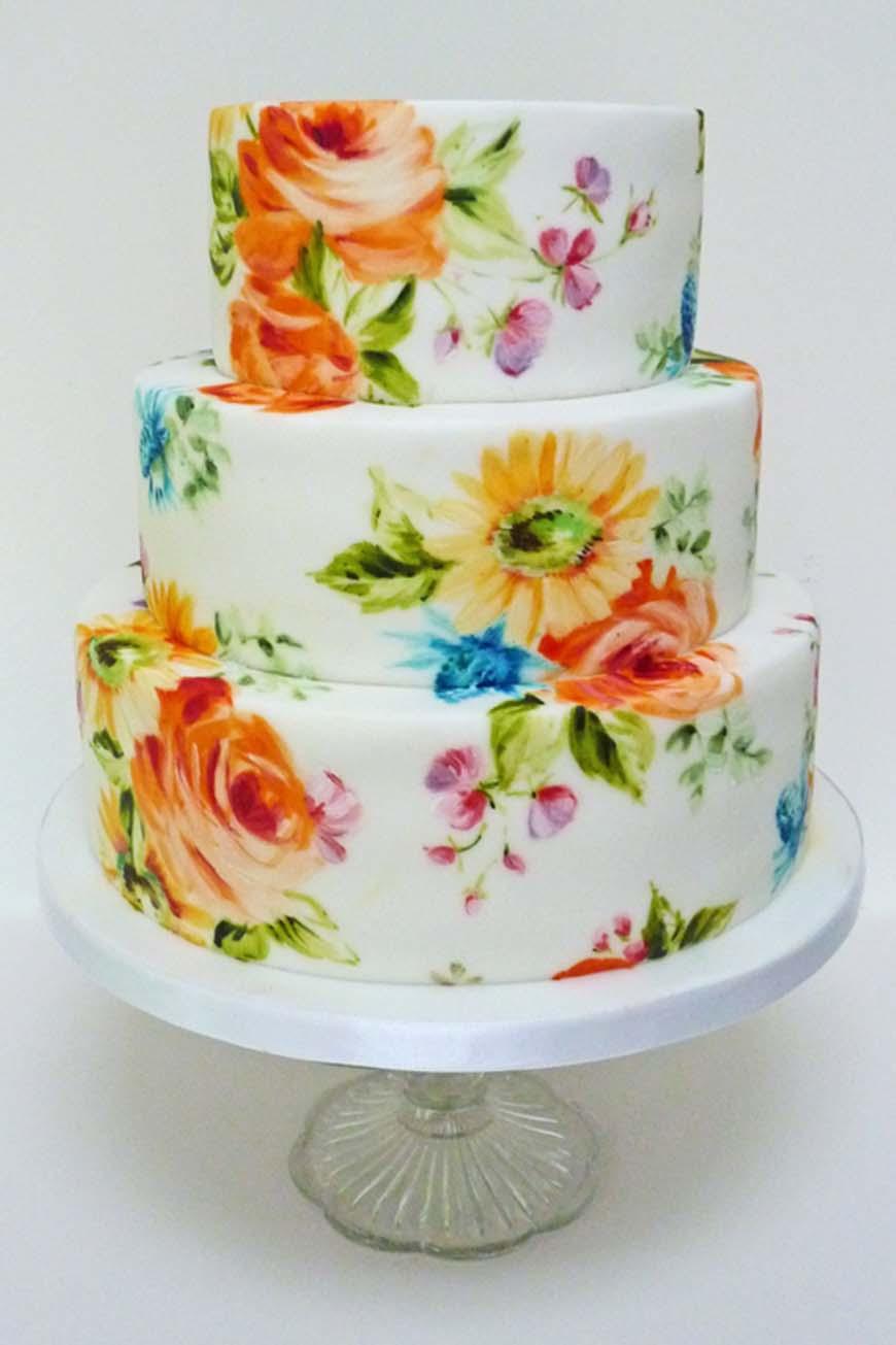 Wedding Ideas By Colour: Bright Wedding Flowers - Creative cakes | CHWV