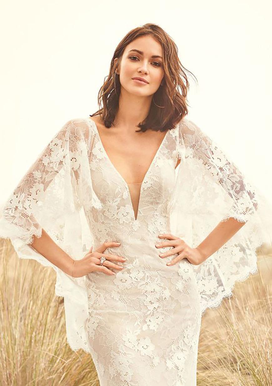 2020 Wedding Dresses Trends - Boho bell sleeves | CHWV