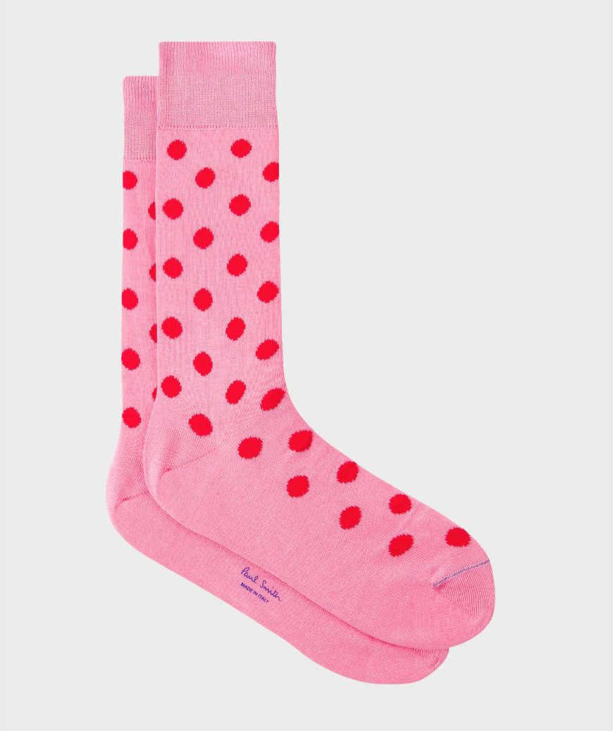 Wedding Ideas By Colour: Pink Groom's Accessories - Spotty socks | CHWV