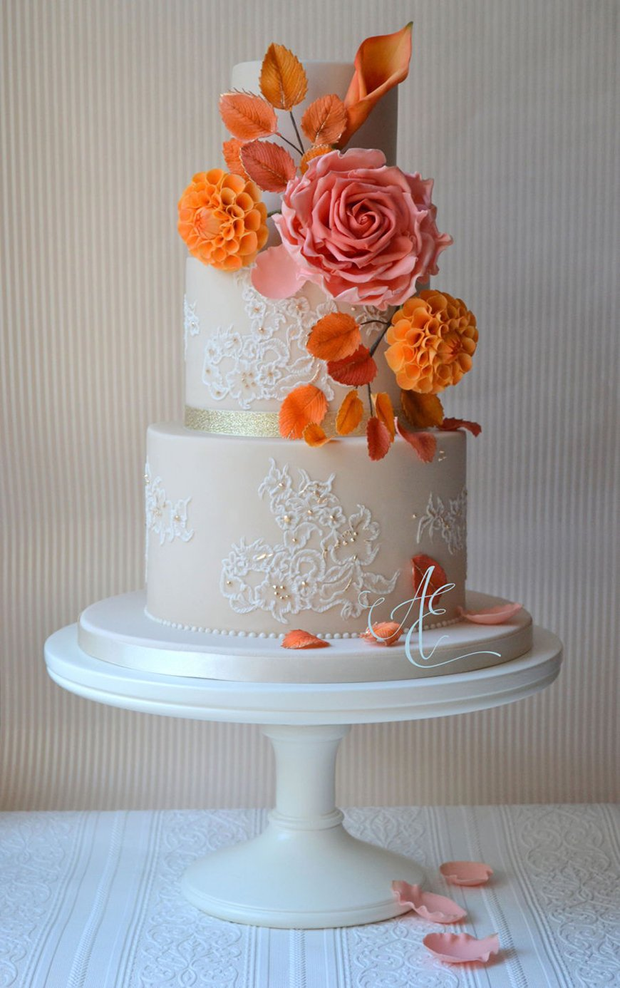 Autumn Colour Schemes: Orange - The cake | CHWV