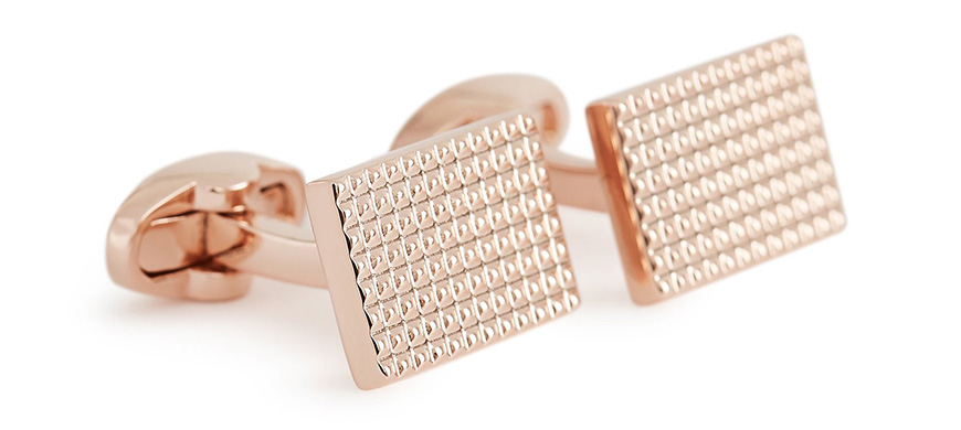 Wedding Ideas By Colour: Pink Groom's Accessories - Rose gold cufflinks | CHWV