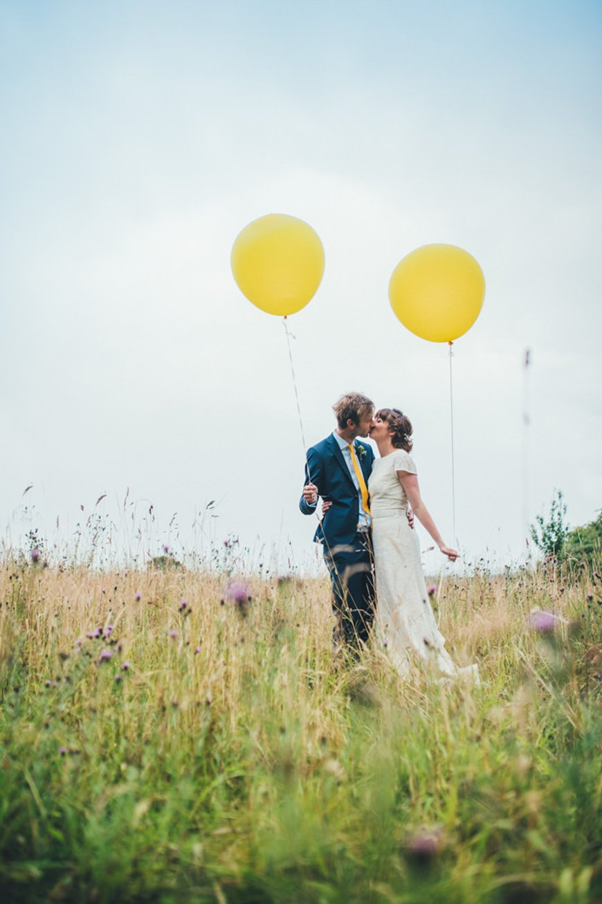 Wedding Ideas By Colour: Lemon Yellow Wedding Ideas - Balloons | CHWV