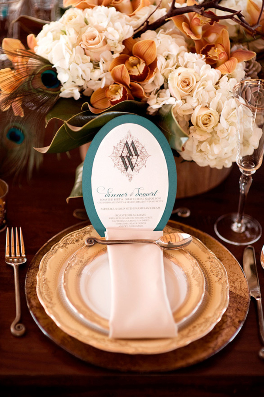 Wedding Ideas By Colour: Bronze Wedding Theme - Bronze with teal | CHWV