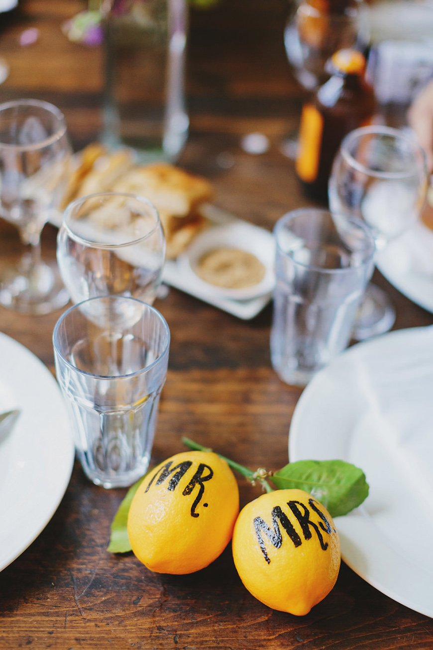 Wedding Ideas By Colour: Lemon Yellow Wedding Ideas - Place names | CHWV
