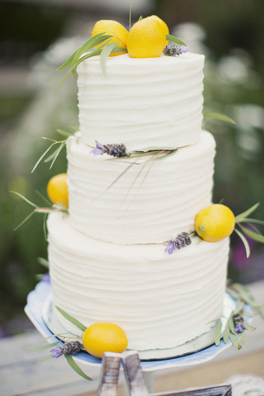 Wedding Ideas By Colour: Lemon Yellow Wedding Ideas - Cake | CHWV