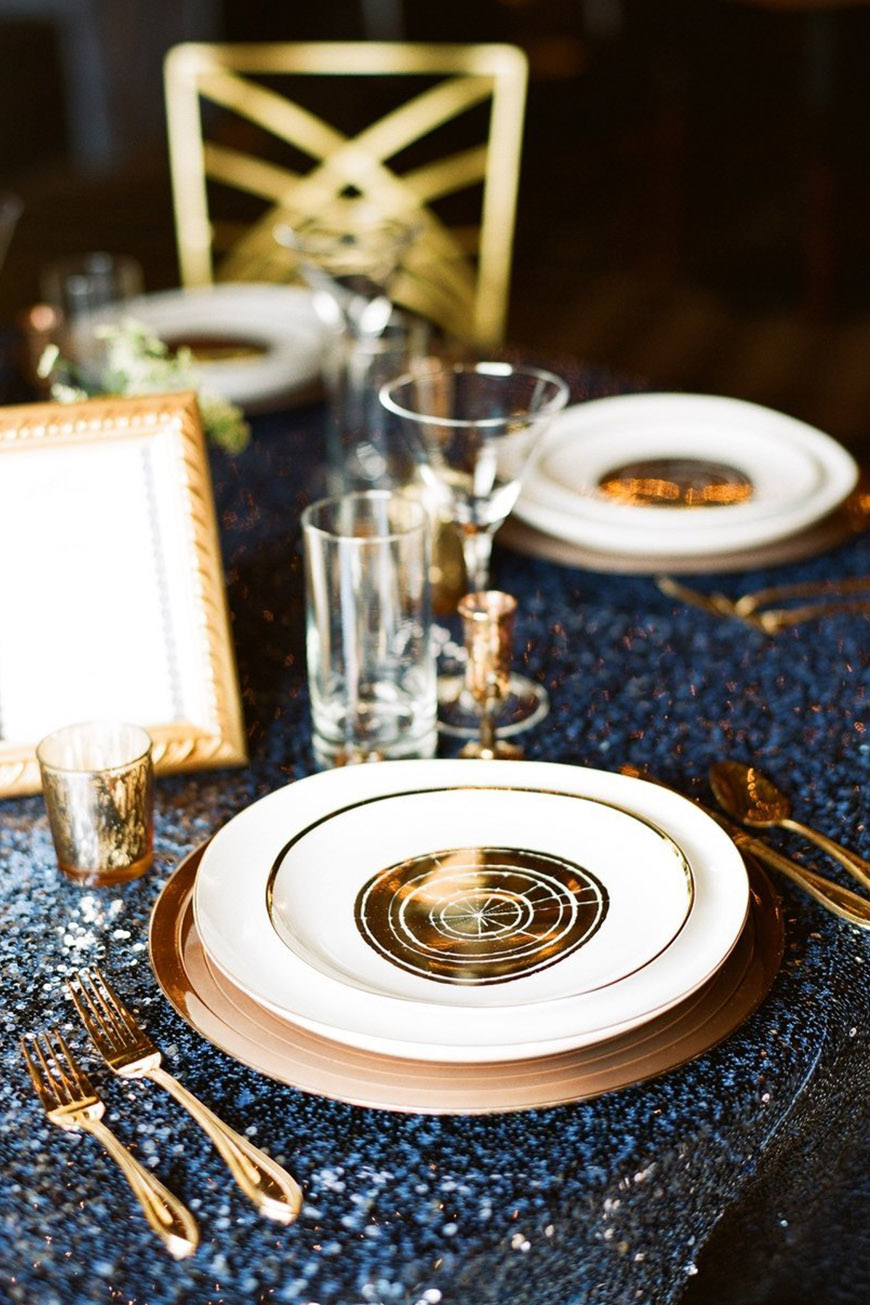 Wedding Ideas By Colour: Bronze Wedding Theme - Bronze with navy | CHWV