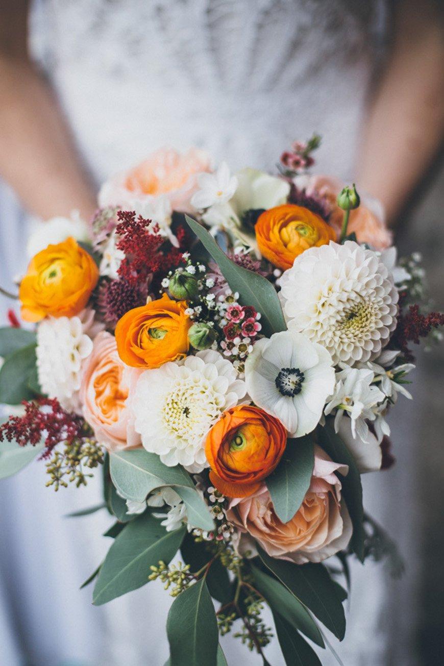 October Wedding Flowers | Wedding Flowers In Season | CHWV