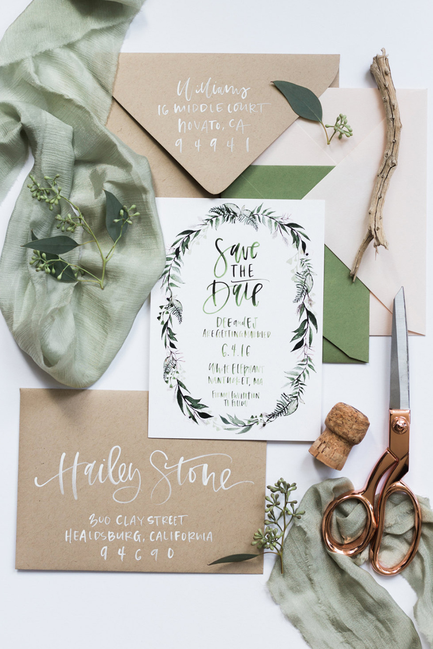 On-Trend Wedding Stationery For 2018 - Calligraphy | CHWV