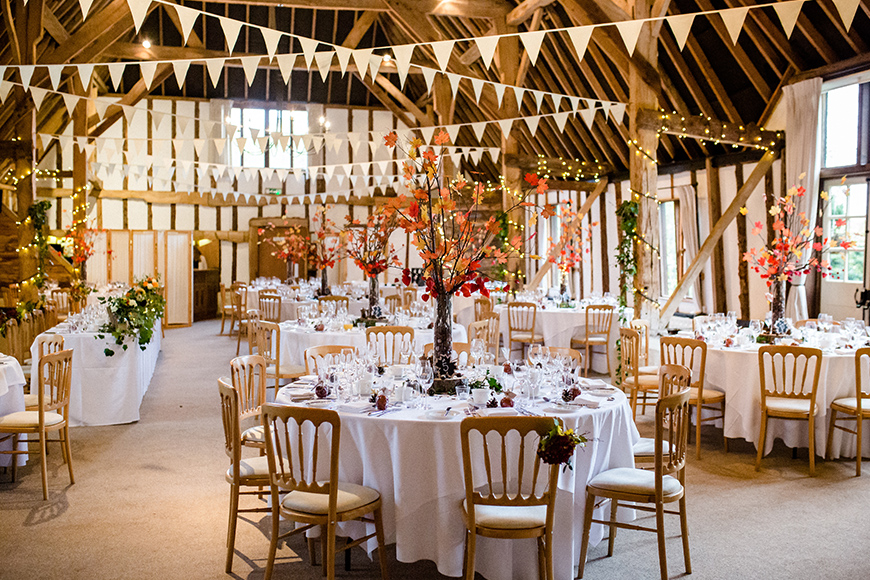 11 Barn Wedding Venues For An Autumn Wedding - Clock Barn | CHWV