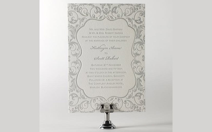 Wedding Ideas By Colour: Grey Wedding Invitations - Simply grey | CHWV