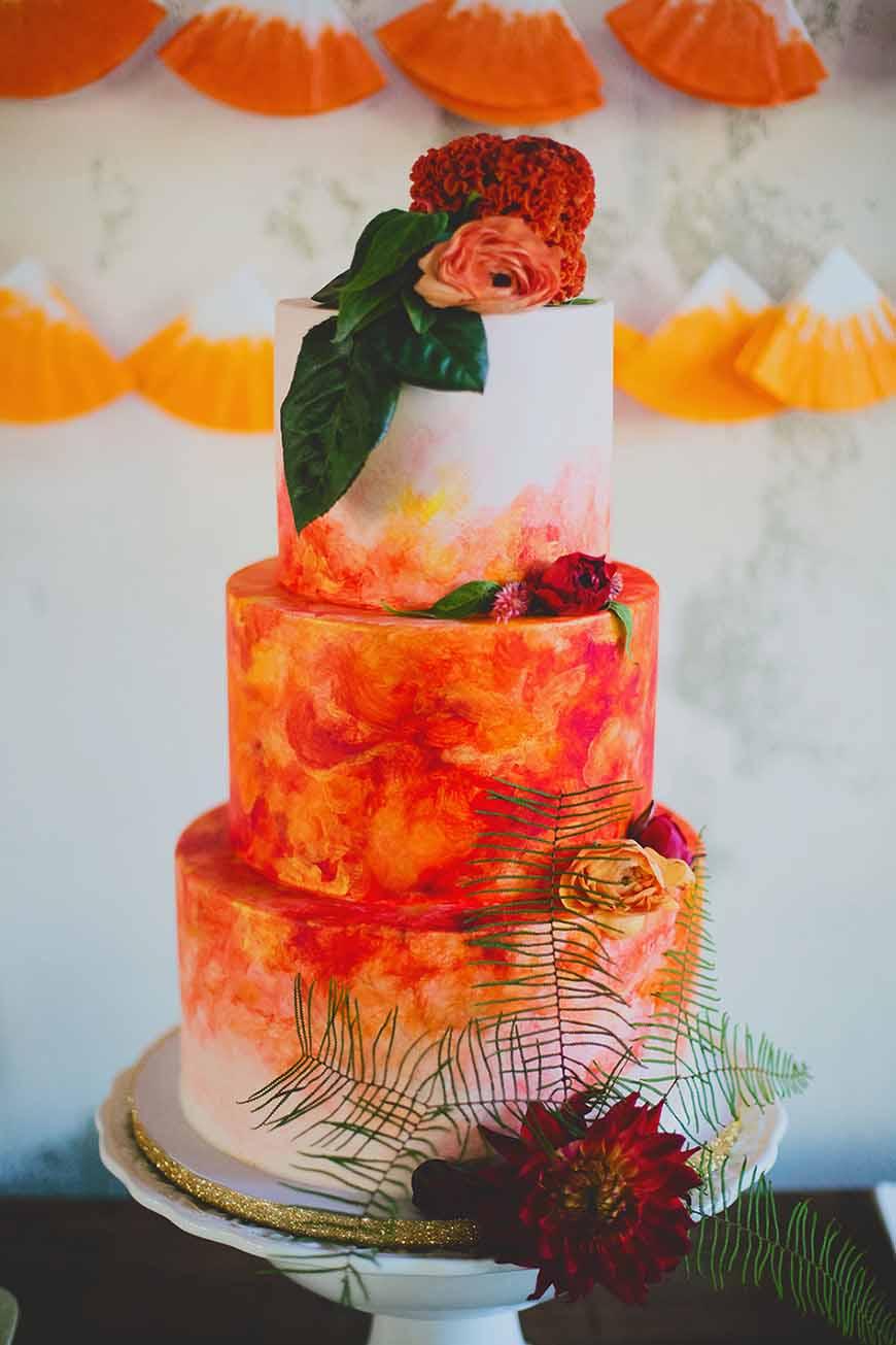 Wedding Ideas By Colour: Orange Wedding Cakes - Truly Elegant | CHWV