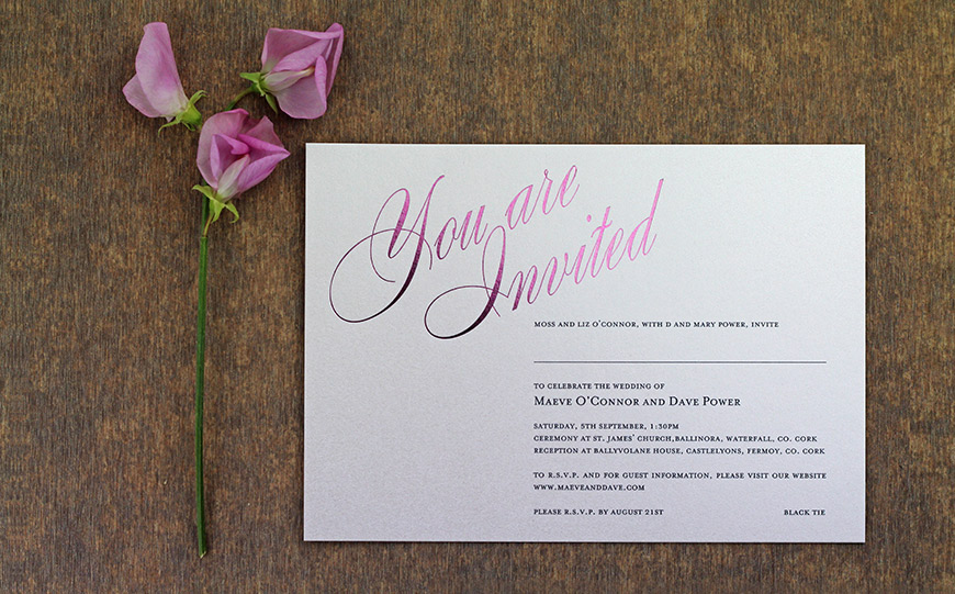Award Winning Wedding Stationery With The Foil Invite Company Chwv