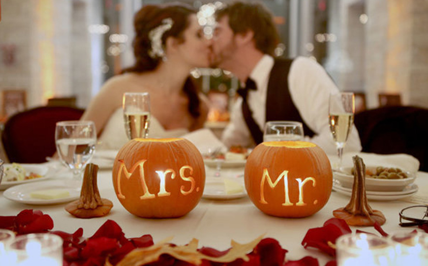 Wedding Ideas By Colour: Orange Wedding Decorations - Pumpkins | CHWV