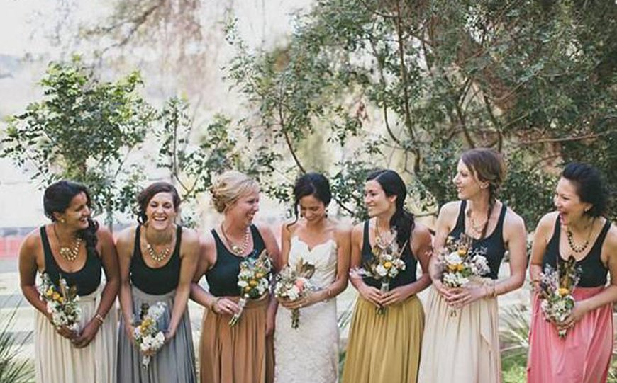 New Trends For Bridesmaid Fashion - Bridesmaids separates | CHWV