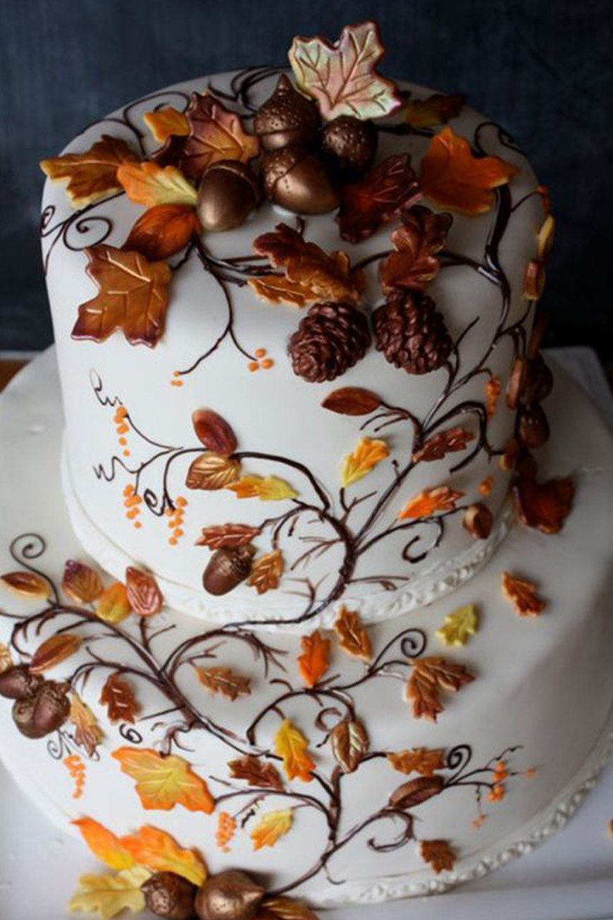 Autumnal Wedding Cakes Wedding Ideas By Colour Chwv