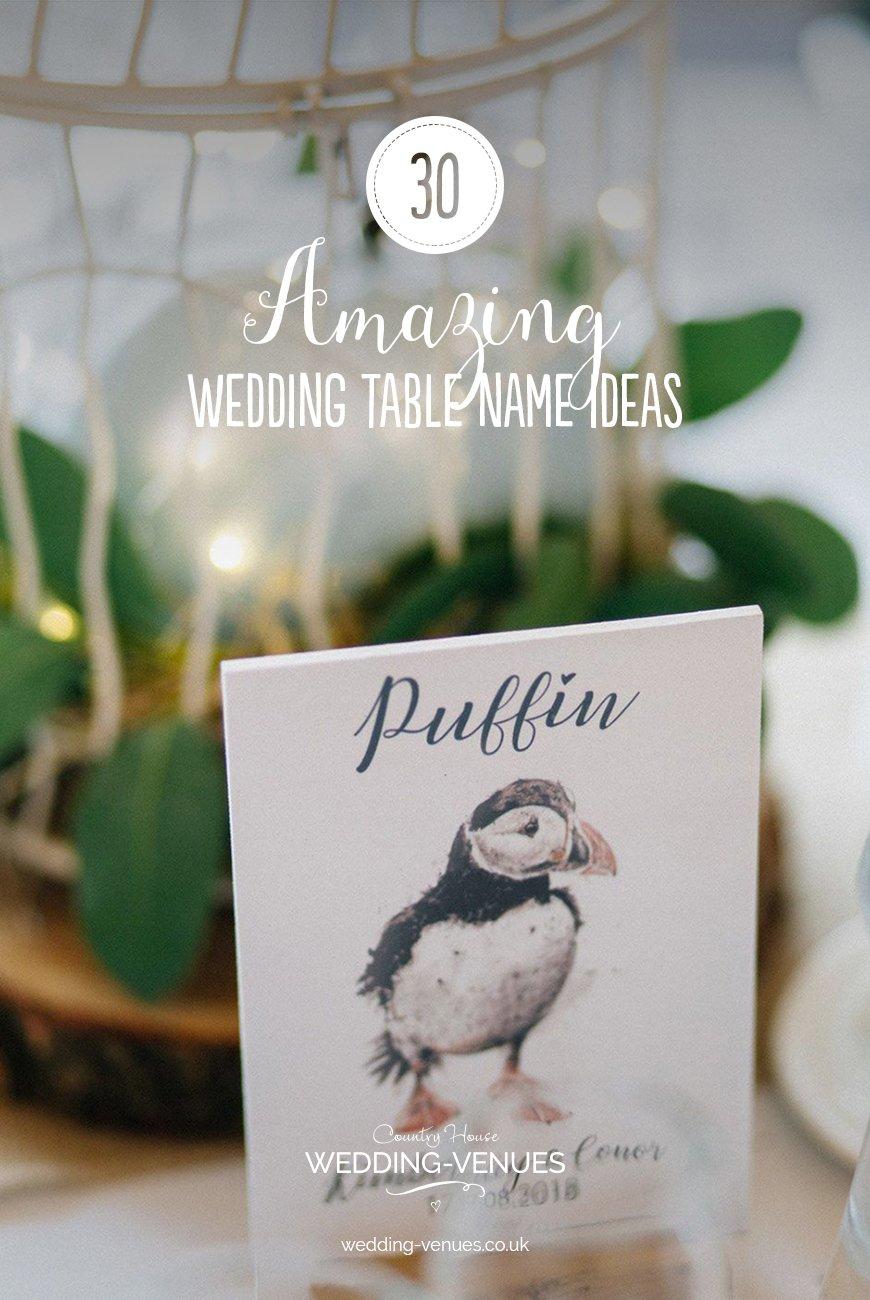 30 Amazing Wedding Table Name Ideas | CHWV