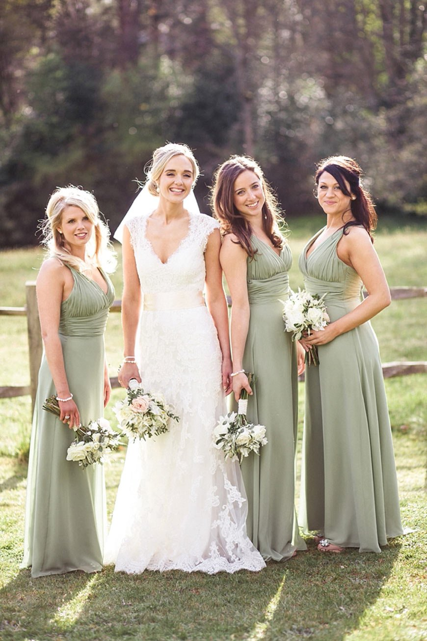 Green bridesmaid dresses wedding ideas by colour chwv for Dresses for wedding bridesmaid