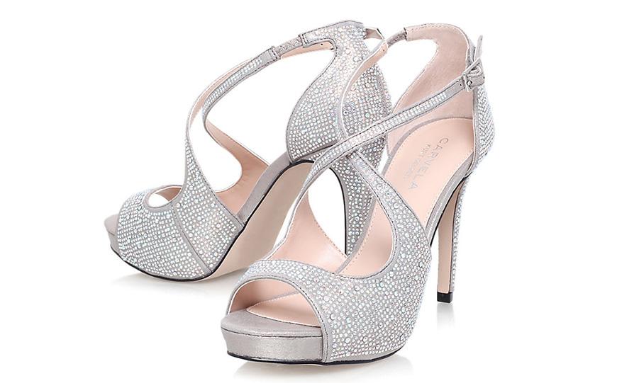 Wedding Ideas By Colour: Metallic Wedding Shoes - Elegant silver | CHWV
