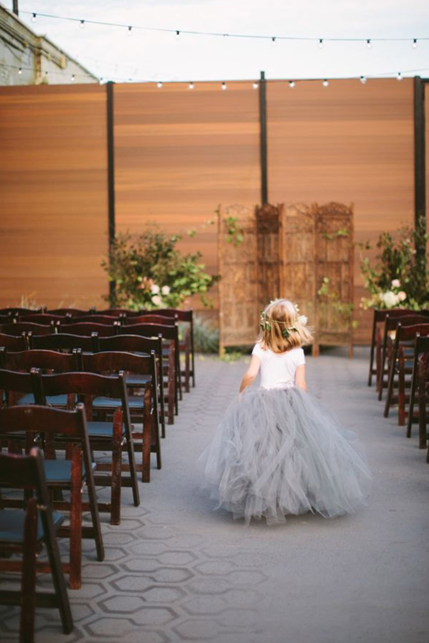 Wedding Ideas By Pantone Colour: Harbor Mist - Flower girl dress | CHWV