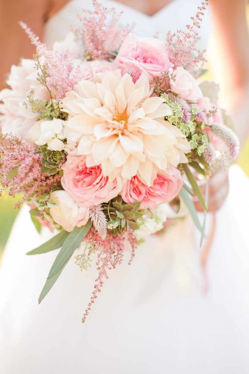Wedding Ideas By Colour: Pink Wedding Theme - Gorgeous flowers | CHWV