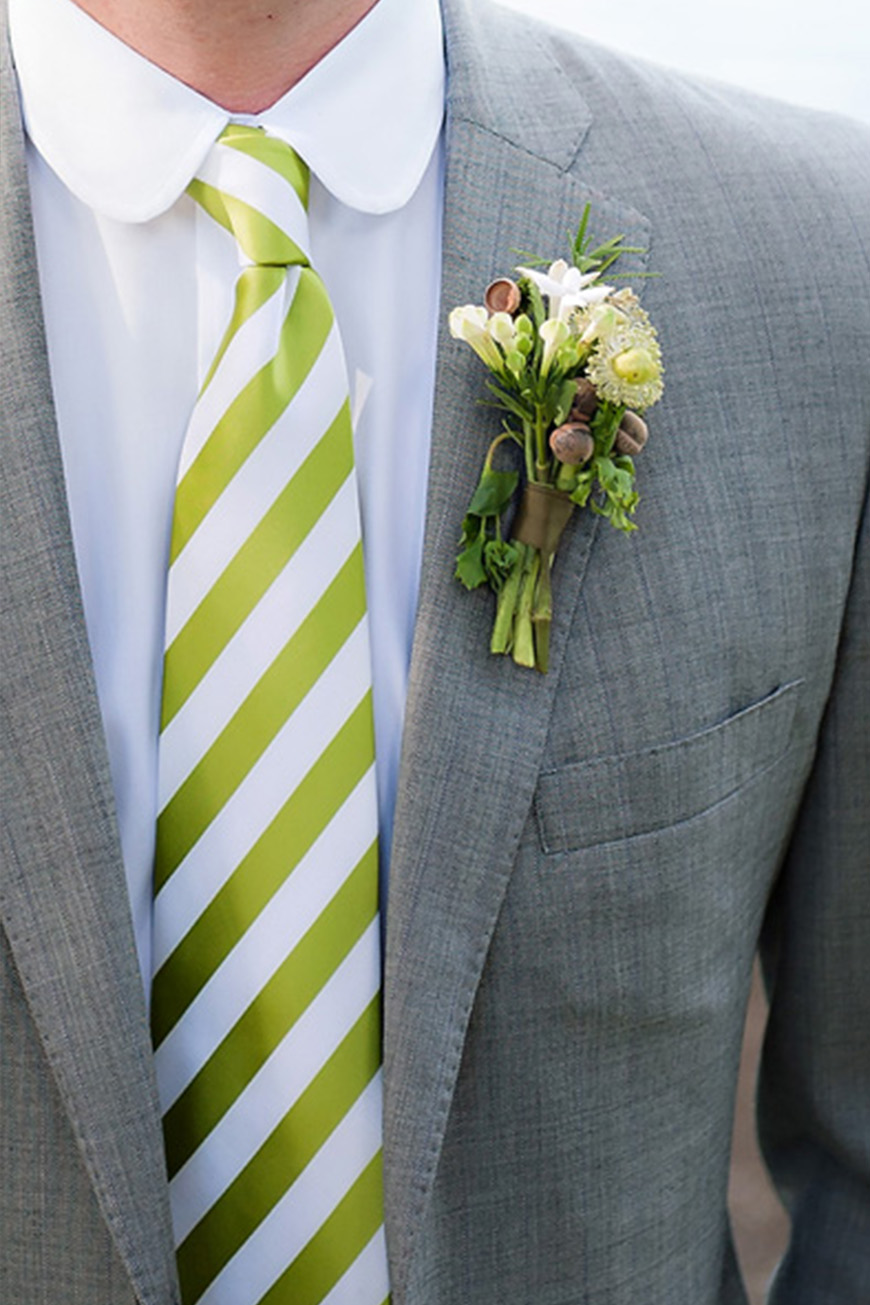 Wedding Ideas By Pantone Colour: Lime Punch - Tie | CHWV