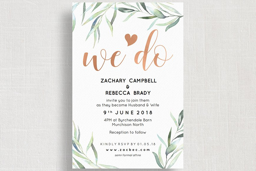 Wedding Ideas By Colour: Rose Gold Wedding Theme - Saying 'I do' | CHWV