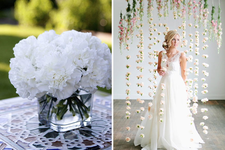 White Carnation Wedding Flowers perfect for your big day