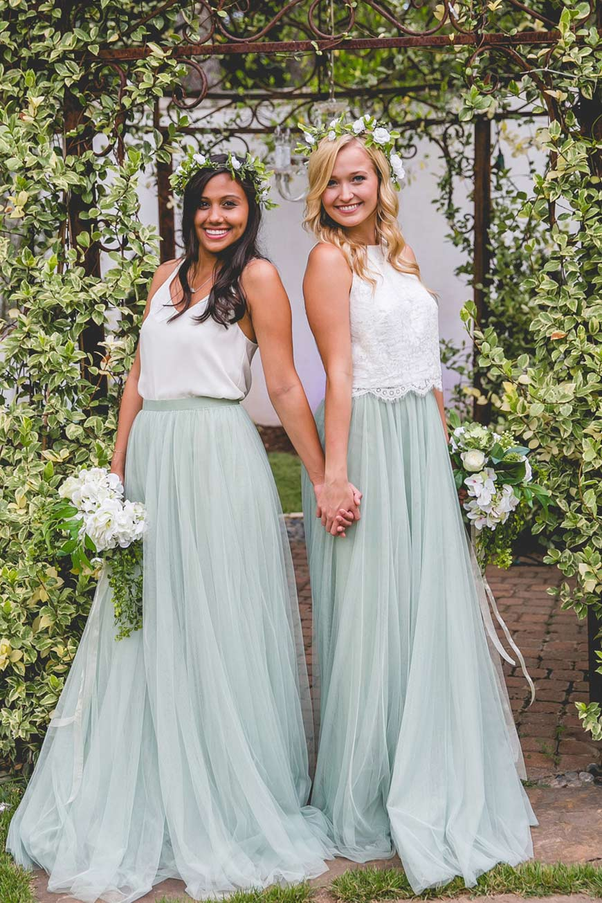 Green bridesmaid dresses wedding ideas by colour chwv wedding ideas by colour green bridesmaid dresses chwv ombrellifo Choice Image