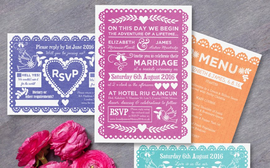 Wedding Ideas By Colour: Bright Wedding Invitations | CHWV