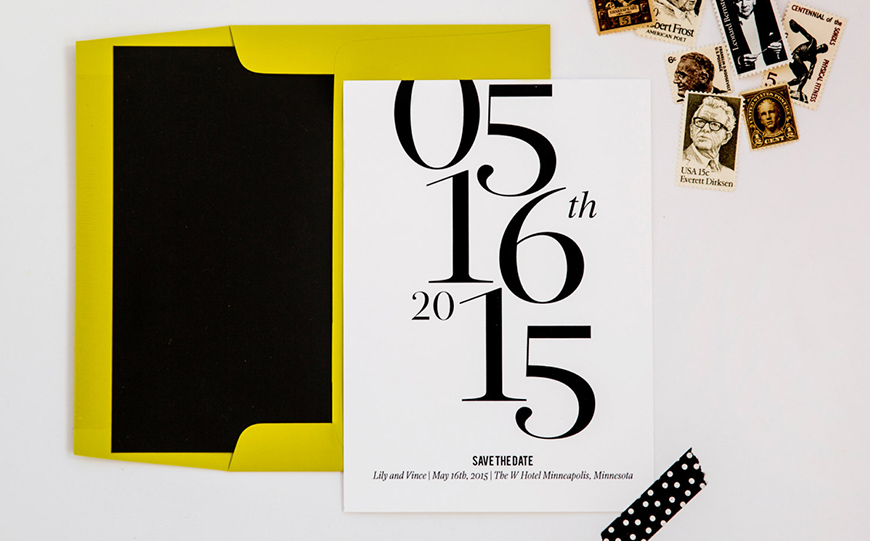 Wedding Ideas By Colour: Lemon Yellow Wedding Ideas - Stationery | CHWV