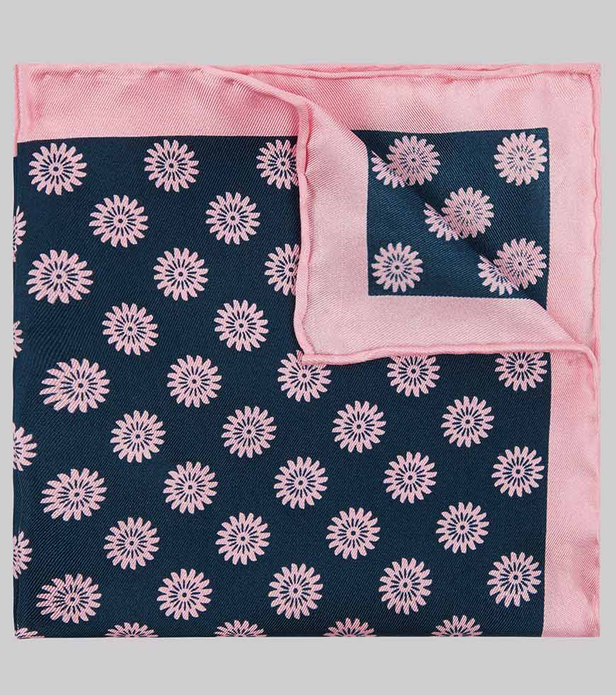 Wedding Ideas By Colour: Pink Groom's Accessories - Pocket square | CHWV