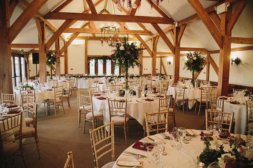 9 all-in-one wedding venues for autumn - Sandhole Oak Barn | CHWV