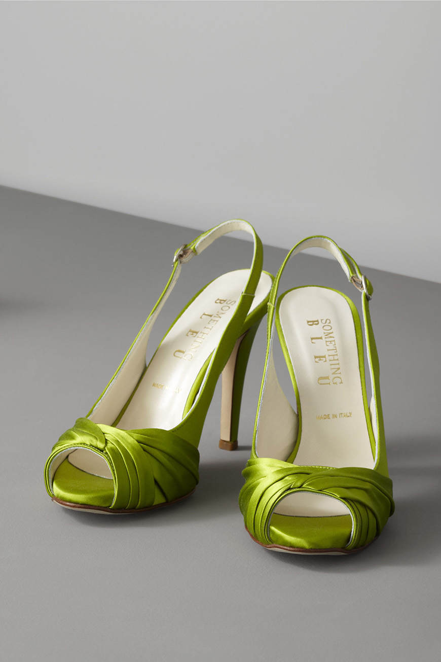 Wedding Ideas By Pantone Colour: Lime Punch - Shoes | CHWV