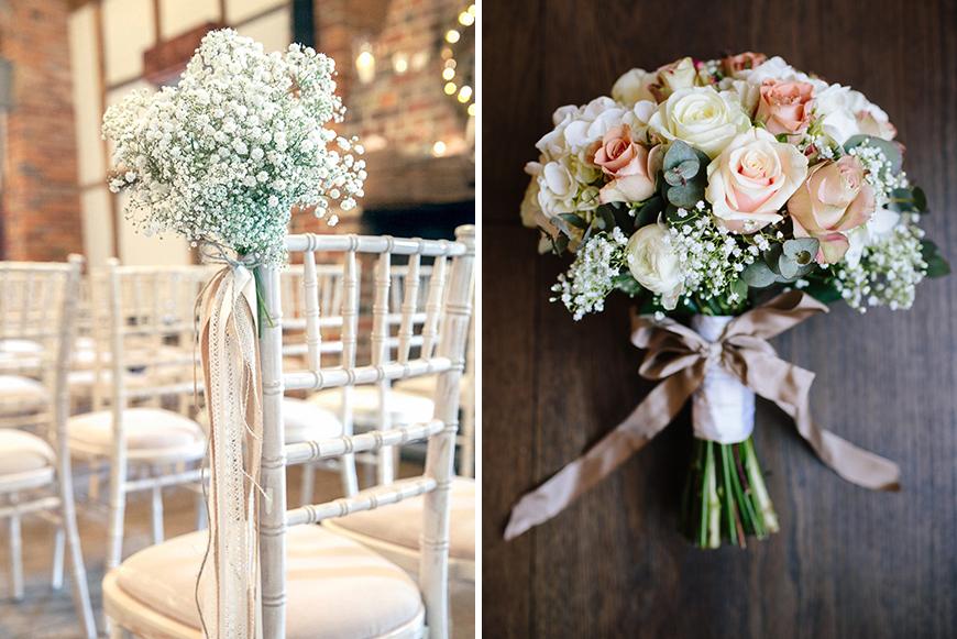 Gypsophila is a great option as a white wedding flower