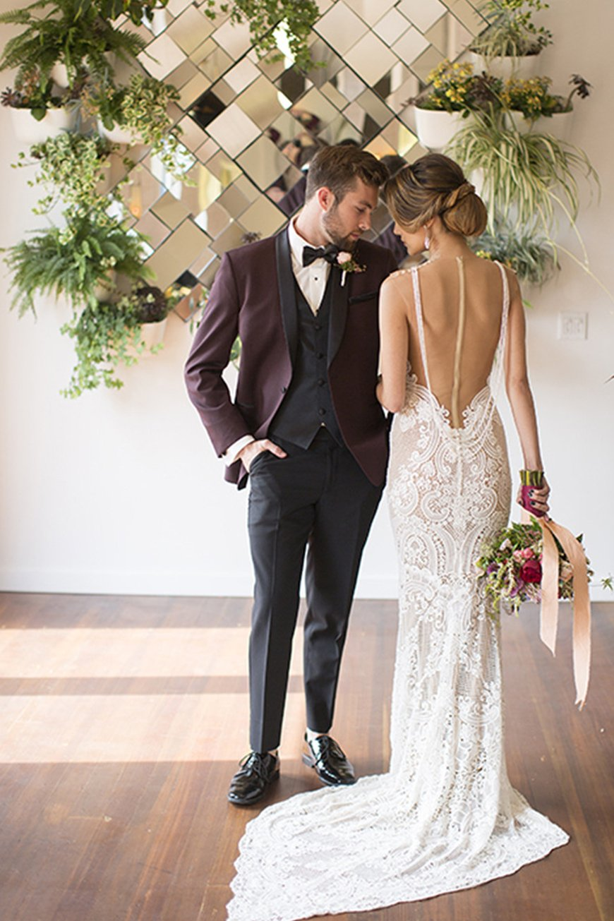 Grooms Is Burgundy The New Blue | CHWV