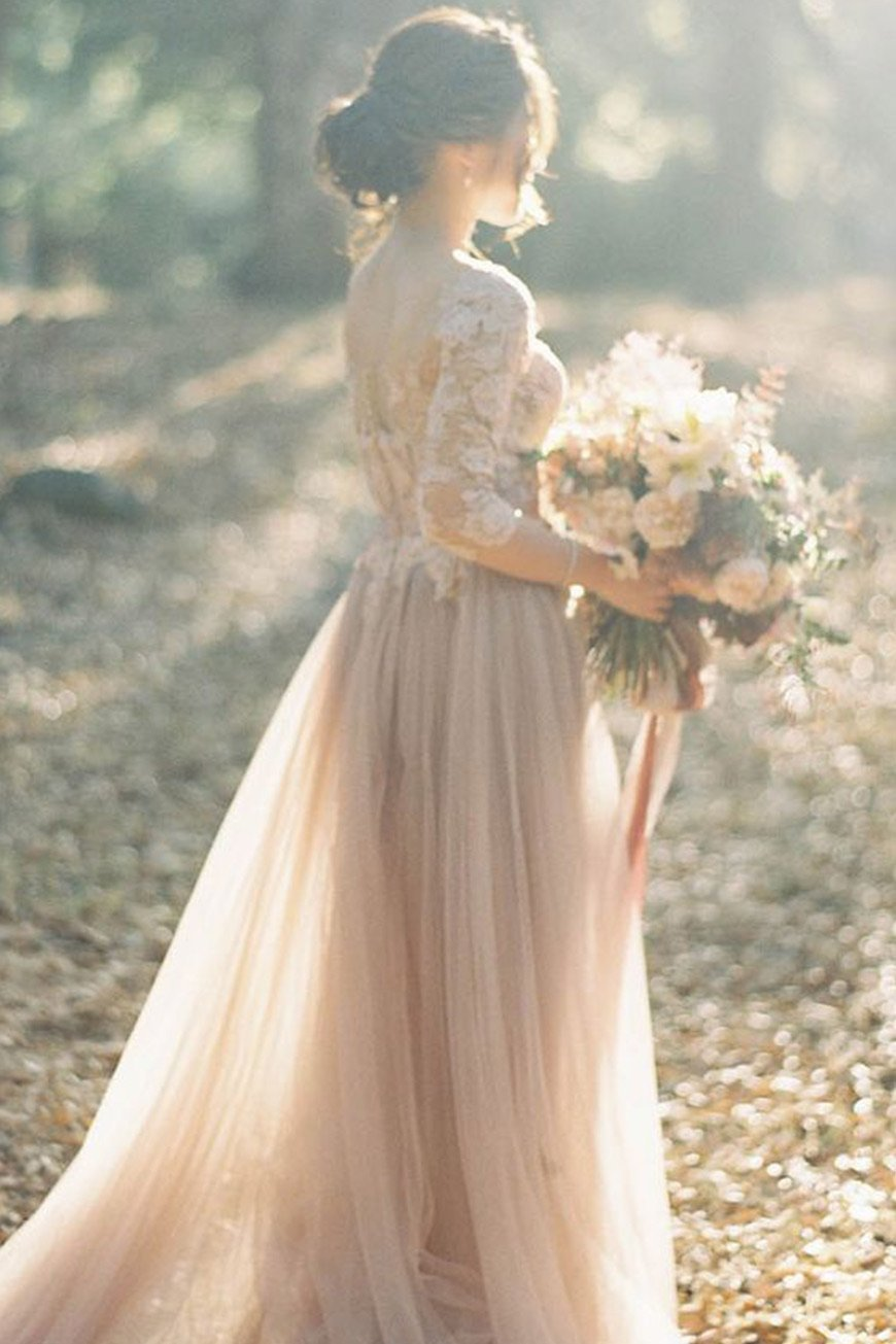 Wedding Ideas By Colour: Blush Wedding Dresses | CHWV