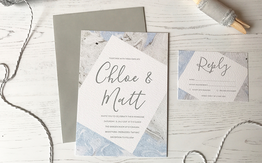 On-Trend Wedding Stationery For 2018 - Marble | CHWV