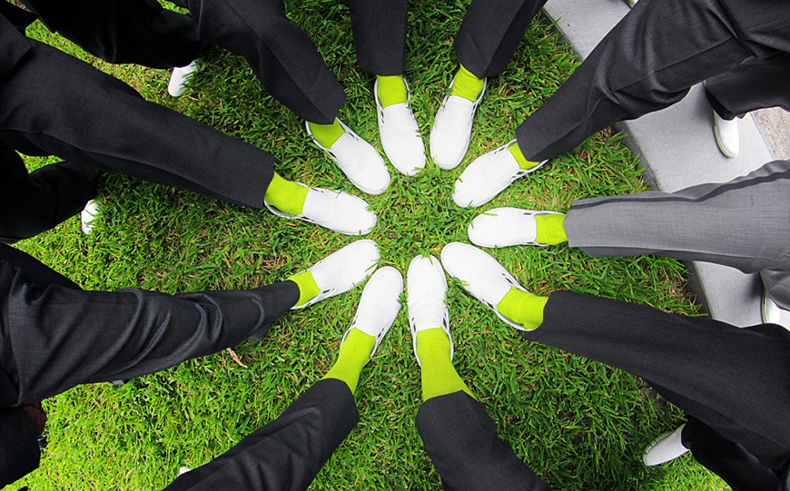 Wedding Ideas By Pantone Colour: Lime Punch - Socks | CHWV